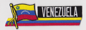 Venezuela 7 stars and crest Embroidered Flag Patch, style 01.